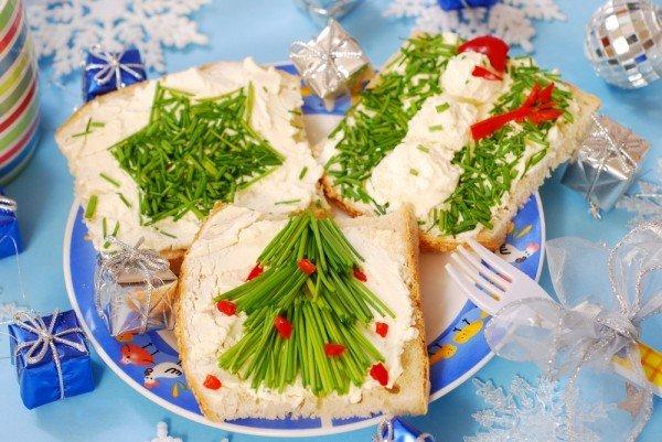 Новорічні бутерброди до святкового столу! Рецепт