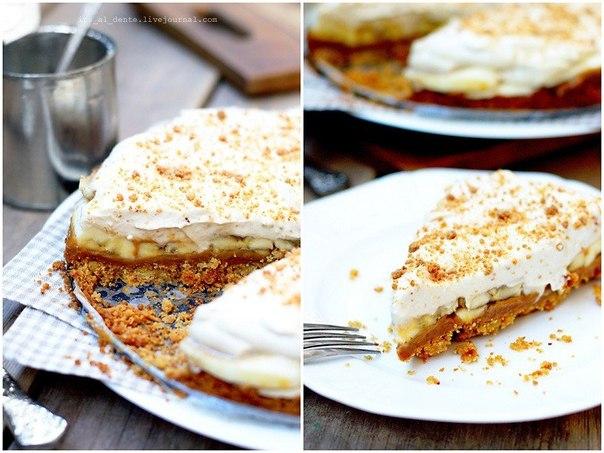 Баноффи пай — незвичайний банановий пиріг. Простий покроковий рецепт з фото