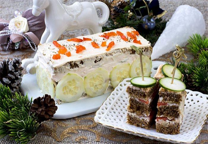 Закуска з копченим лососем. Покроковий рецепт з фото