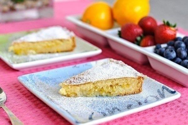 Яскравий лимонний пиріг. Покроковий рецепт з фото