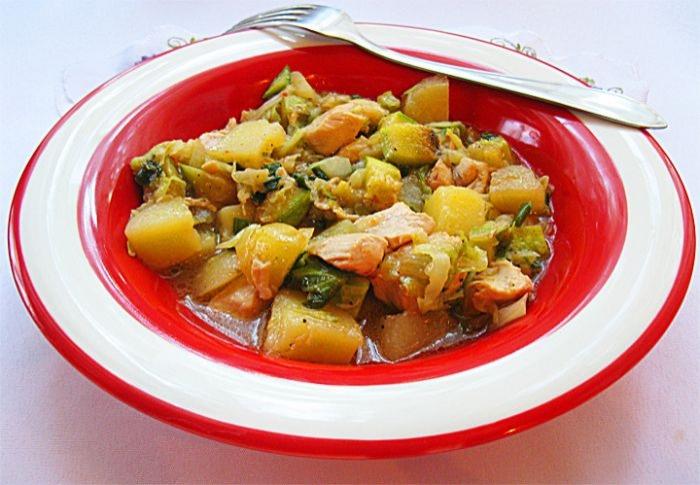Овочеве рагу з куркою. Покроковий рецепт з фото