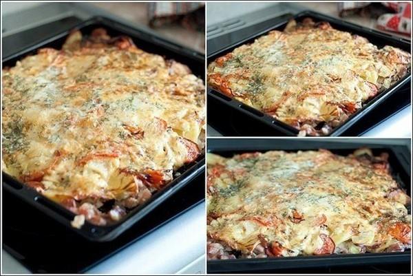 М'ясо запечене з картоплею. Рецепт з фото