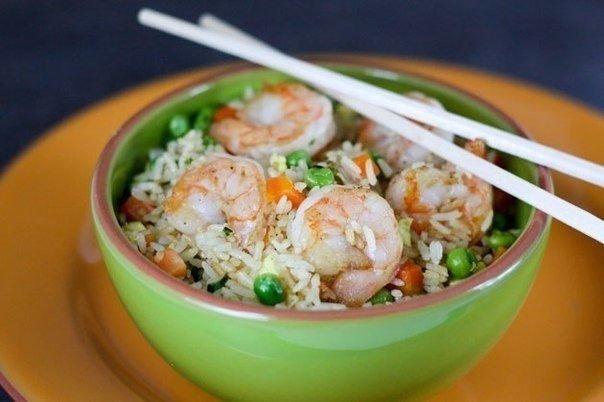 Креветки з рисом. Покроковий рецепт з фото