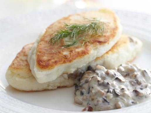 Картопляні котлети з грибним соусом. Рецепт
