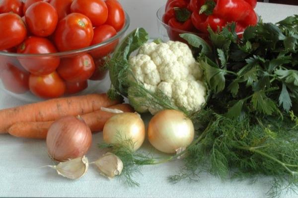 Мариновані овочі фото-рецепт