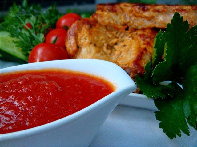 Домашній томатний кетчуп. Рецепт