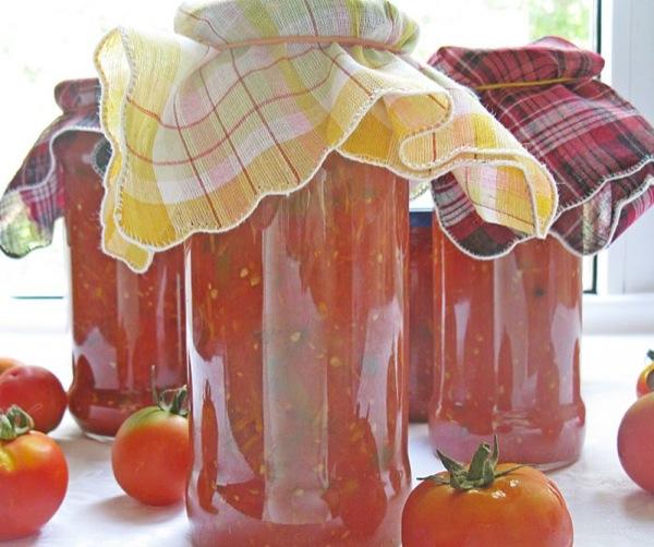 Смачненький домашній томат на зиму, покроковий рецепт з фото