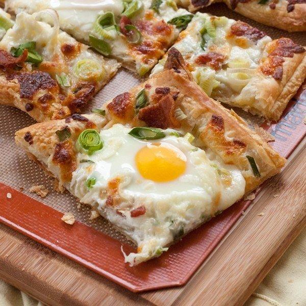 Ситний сніданок: Яєчня на листковому тісті. Покроковий рецепт з фото